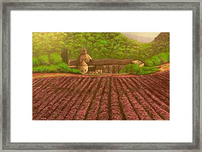 Lavender By The Abbey Framed Print