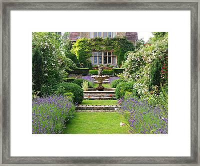 Lavender Country Garden Framed Print by Gill Billington