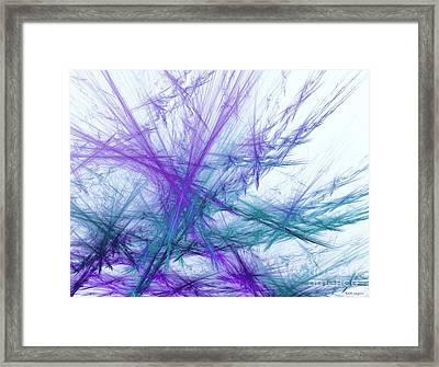 Lavender Crosshatch Framed Print by Elizabeth McTaggart