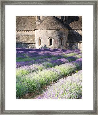 Lavender Field In Front Of Senanque Abbey - Provence - France Framed Print by Matteo Colombo