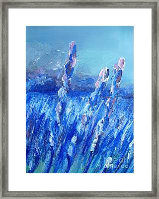 Lavender Field Landscape Framed Print by Eric  Schiabor
