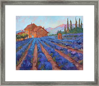 Lavender Field Provence Framed Print