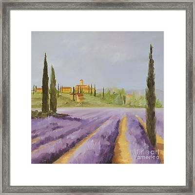 Lavender Fields I Framed Print by Logan Gerlock
