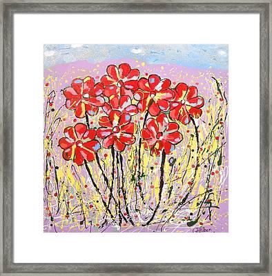 Lavender Flower Garden Framed Print