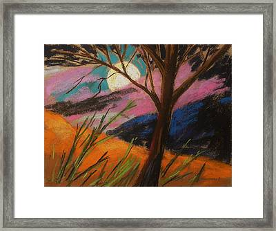 Lavender Glowing Framed Print by John Williams