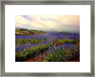 Lavender In Oil Framed Print