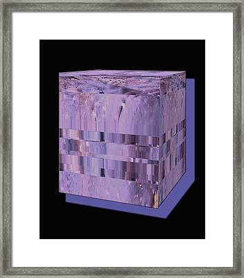 Lavender Light Box Framed Print by Colleen Cannon
