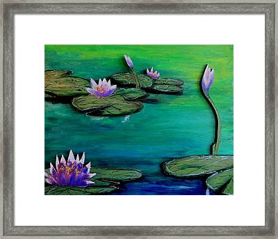 Lavender Lillies Framed Print by Daniel Dubinsky