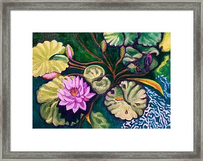 Lavender Lotus Flower Framed Print