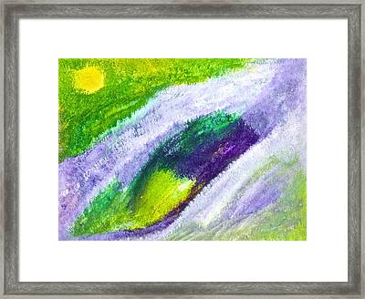 Framed Print featuring the painting Lavender Meadow by Tracey Myers