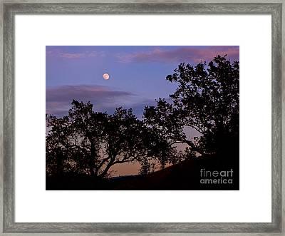 Lavender Moon Twilight Framed Print