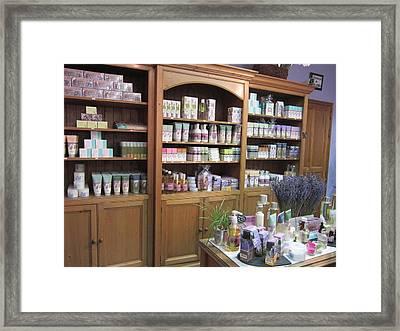 Lavender Museum Shop 1 Framed Print by Pema Hou