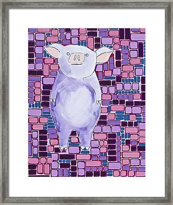 Lavender Piglet Framed Print