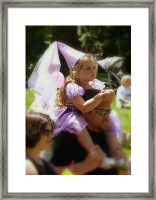 Lavender Princess Framed Print by Cindy Wright