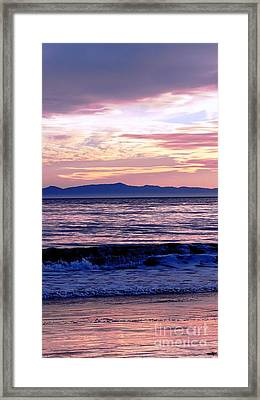 Framed Print featuring the photograph Lavender Sea by Sue Halstenberg