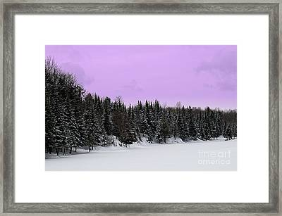 Framed Print featuring the photograph Lavender Skies by Bianca Nadeau