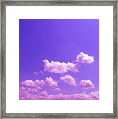 Lavender Skies Framed Print by M West
