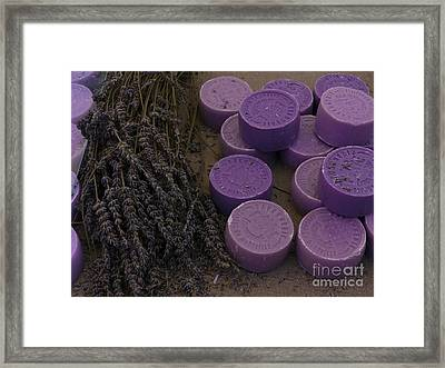 Lavender Soap, France Framed Print