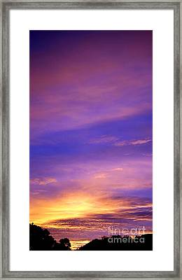 Framed Print featuring the photograph Lavender Sunrise by Sue Halstenberg