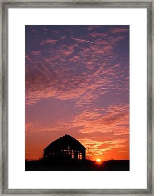 Lavender Sunset Silhouette Framed Print