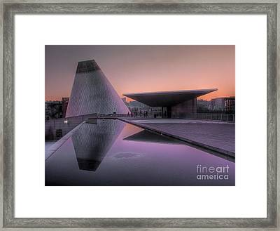 Framed Print featuring the photograph Lavender Twilight Cone by Chris Anderson