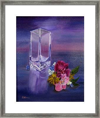 Lavender Vase Framed Print