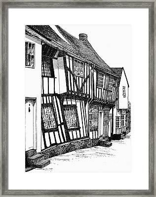 Lavenham Timber Framed Print by Shirley Miller