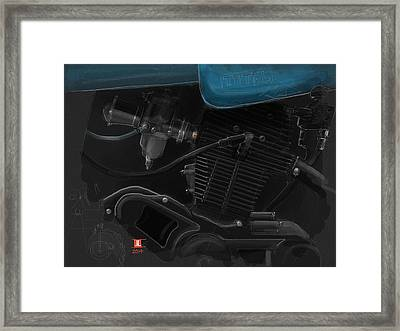 Laverda Engine Detail Framed Print