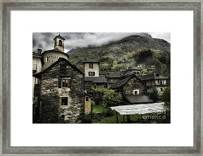Lavertezzo Buildings Framed Print by Timothy Hacker