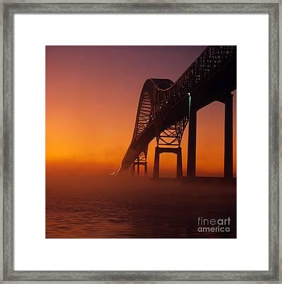 Laviolette Bridge Framed Print by Publiphoto