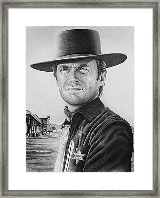 Law And Order Bw Version Framed Print