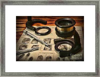 Law Enforcement - Fingerprint Analysis Framed Print by Paul Ward