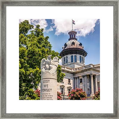 Framed Print featuring the photograph Law Enforcement Memorial by Rob Sellers