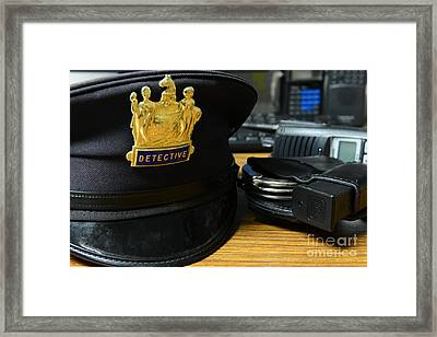 Law Enforcement - The Detective  Framed Print by Paul Ward
