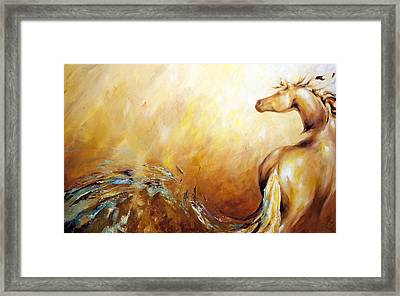 Law Of Attraction Right Side Framed Print by Dina Dargo