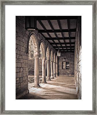 Framed Print featuring the photograph Law Quad Arches by James Howe