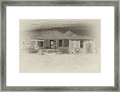 Law West Of Pecos Framed Print