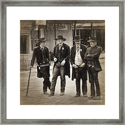 Lawmen And Armed Citizens  ... Framed Print by Chuck Caramella