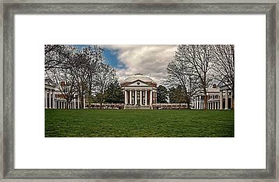 Lawn And Rotunda At University Of Virginia Framed Print