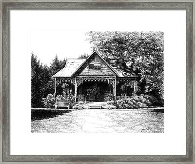 Framed Print featuring the drawing Lawn Chair Theater In Leiper's Fork by Janet King