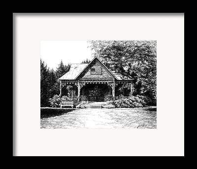 Lawn Chair Theater Framed Prints