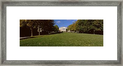 Lawn In Front Of A Building, Bascom Framed Print by Panoramic Images