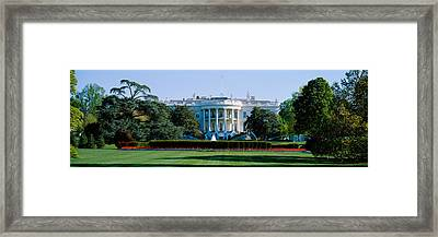 Lawn In Front Of A Government Building Framed Print by Panoramic Images