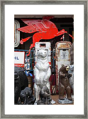 Lawn Sculptures For Sale, Deadwood Framed Print by Panoramic Images