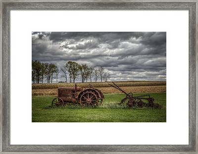 Lawn Tractor Framed Print by Ray Congrove