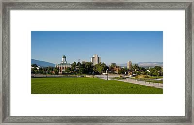 Lawn With Salt Lake City Council Hall Framed Print