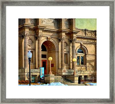 Lawrence City Library Framed Print by Liane Wright