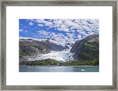 Lawrence Glacier Framed Print by Saya Studios