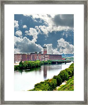 Lawrence Ma Historic Clock Tower Framed Print