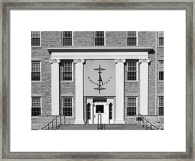 Lawrence University Main Hall Sundial Framed Print by University Icons